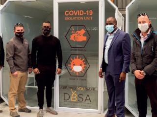 DBSA hands over 110 Isolation Pods as part of COVID-19 Response